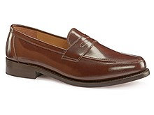 samuel windsor penny loafers brown