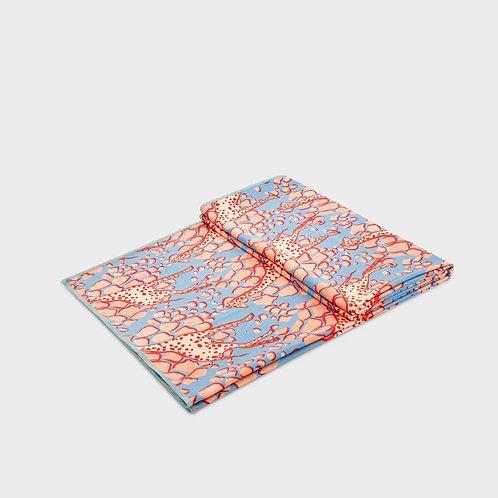 Manduka eQua Mat Towel Giraffes Blue