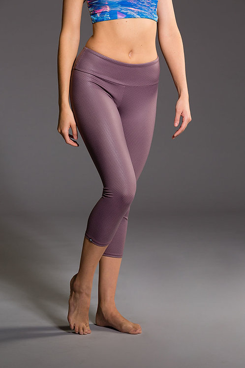 Onzie Capri Pant Purple Haze Fishnet