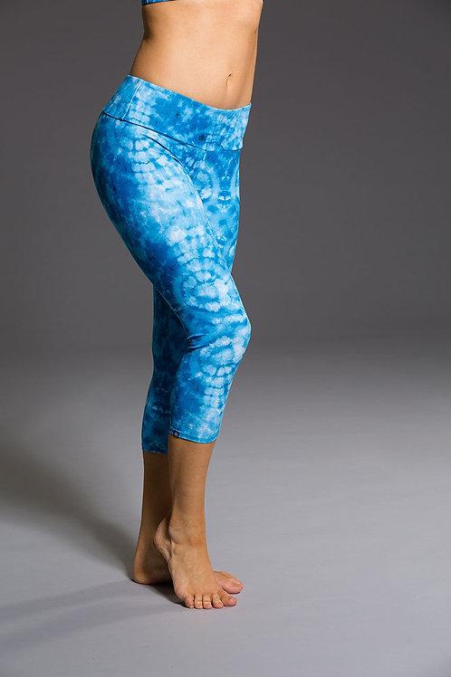 Onzie Capri Pant Tie Dye Blue