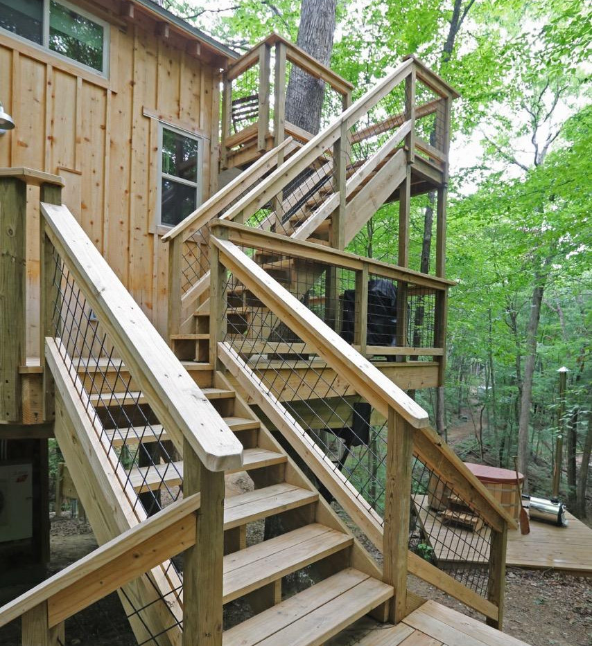 White Oak Treehouse | Hocking Hills Treehouse Cabins | Staircase