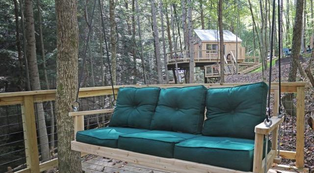Swing seat overlooking Hocking Hills Treehouse Cabins.jpg