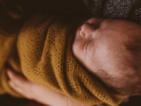 Ein Besuch im Wochenbett - Neugeborenenfotos in Freiburg