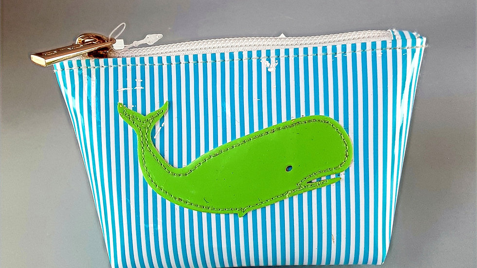LOLO Small Avery: Stripe with Green Whale