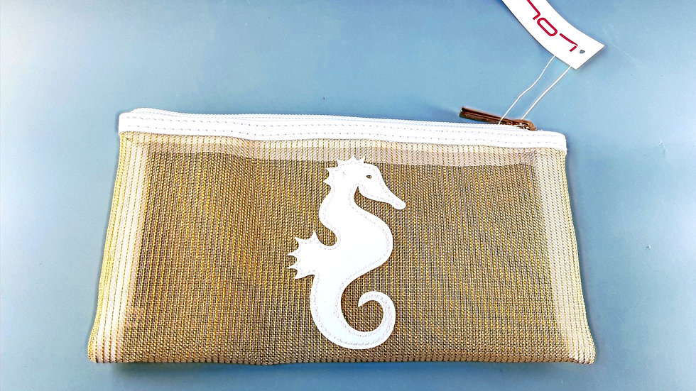 LOLO Mesh Moya Case:Gold Seahorse
