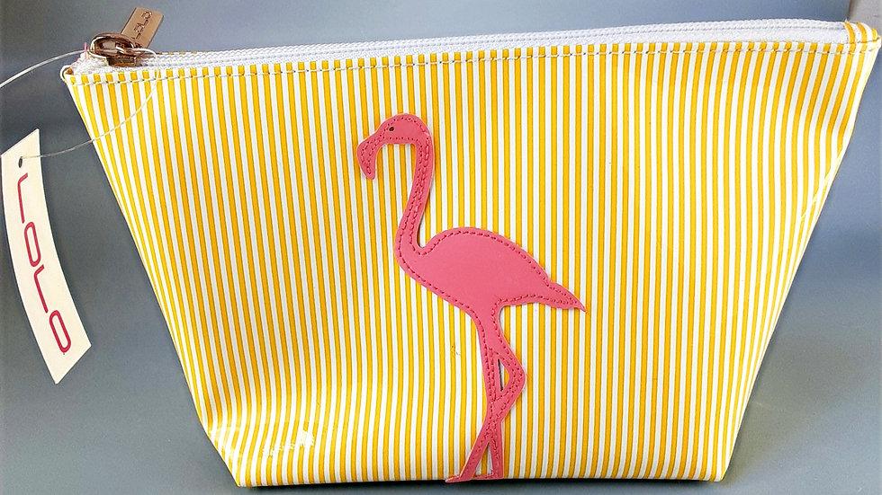 LOLO Medium Avery: Yellow Stripe Flamingo