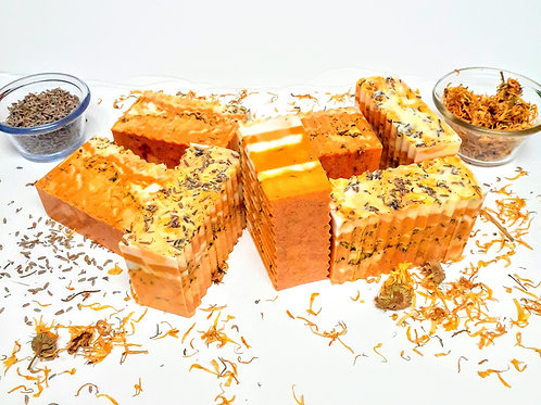 Calendula Chamomile and Lavender Soap