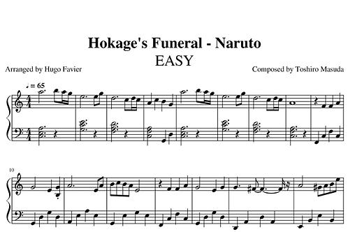Naruto - Hokage Funeral EASY (pdf)