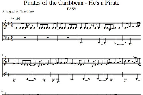 Pirates of the Caribbean - He's a Pirate 2 (pdf)