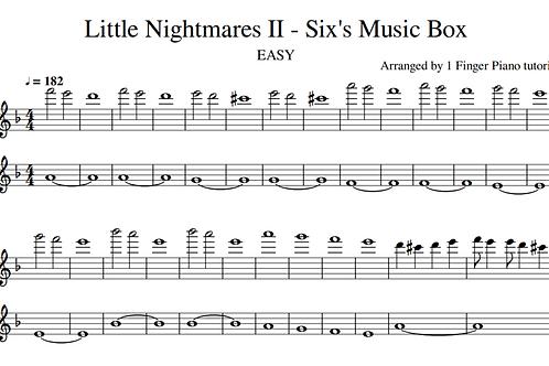 Little Nightmares II - Six's Music Box EASY (sheet music)