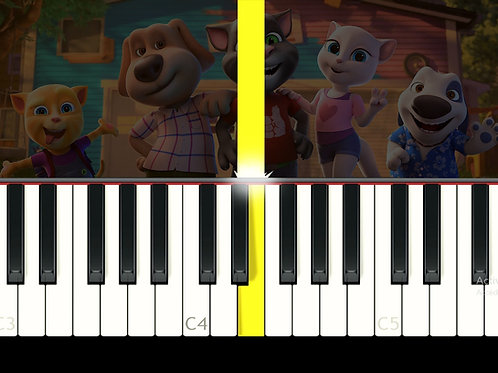 Talking Tom and Friends - Theme - EASY (midi file)