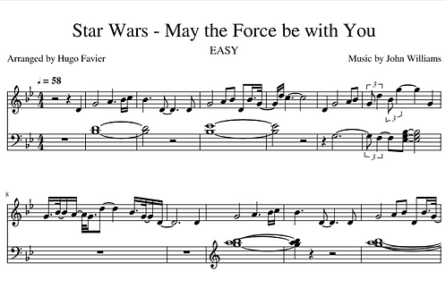 Star Wars - May the Force be with You EASY (pdf)