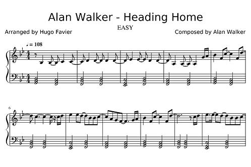 Alan Walker - Heading Home EASY (pdf)