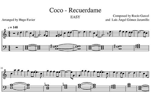 Coco - Recuerdame EASY (pdf)