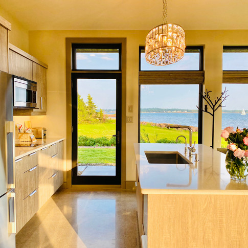 Watch the sunset over the Charlottetown Harbour and Victoria Park in this well designed kitchen.