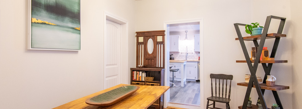 Dining Room with main floor laundry and half bath