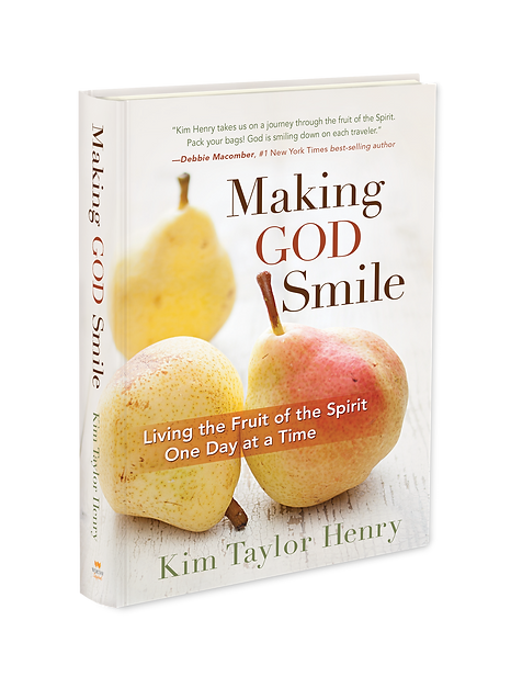 Book cover image for Making God Smile, a new devotional from author Kim Taylor Henry
