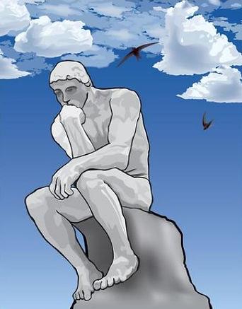 Hombre pensasnte seccion colegio filosof