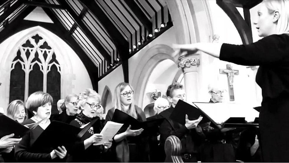 Northwood Choral Society sing Anton Bruckner's Locus Iste in lockdown
