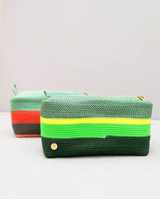 Little square bag 🎄made of bright colou