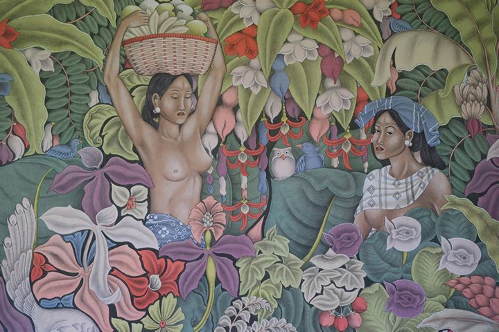 Painting at The Neka Art Museum, Ubud, Bali