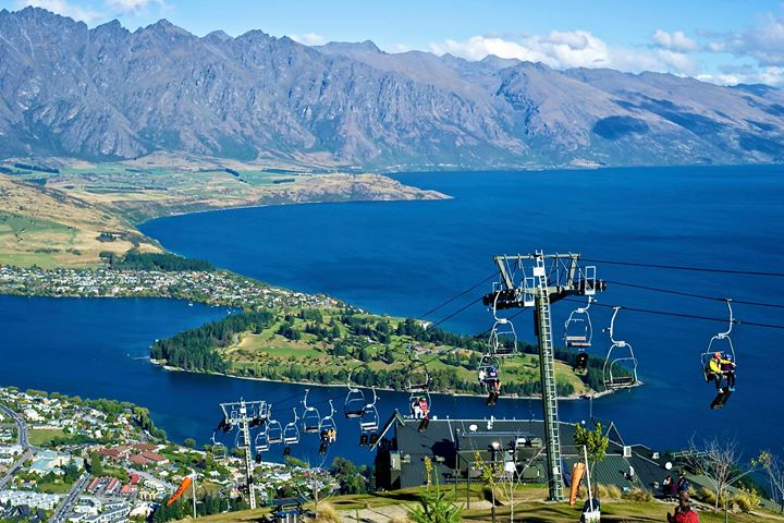 View of Lake Wakatipu from the Skyline Gondola, Queenstown