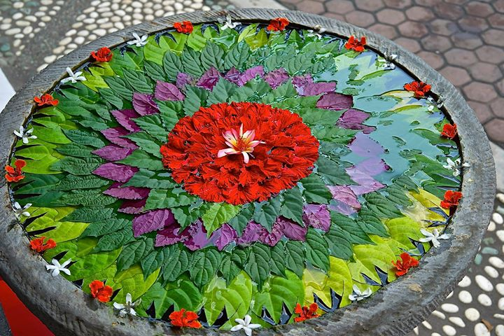 Flower decoration, Ubud, Bali