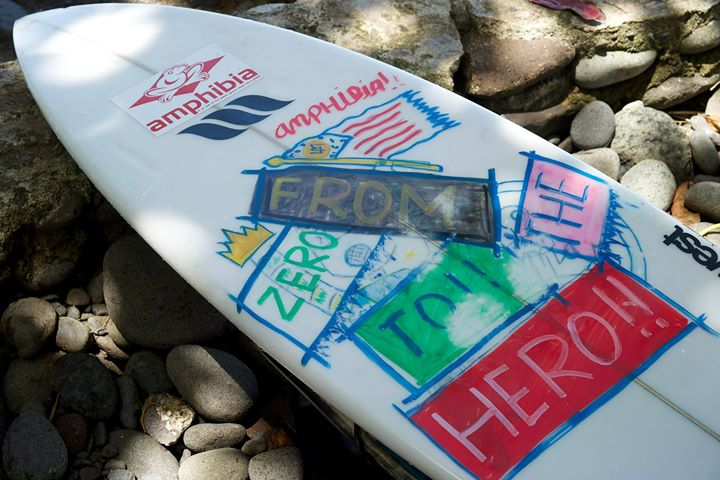 Surfing board at Medewi Beach