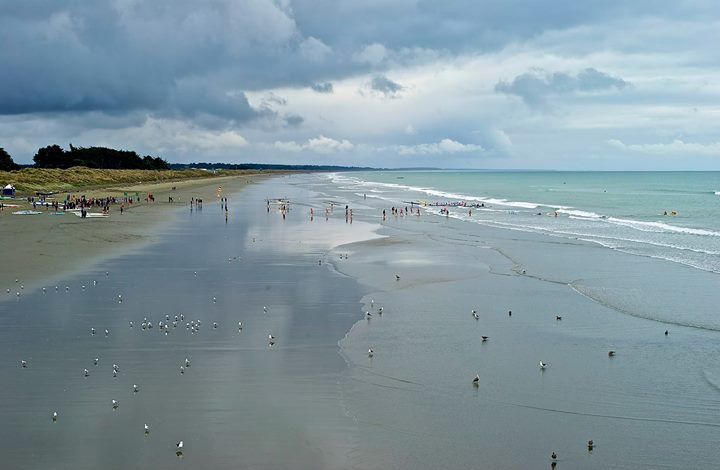 New Brighton beach, New Zealand