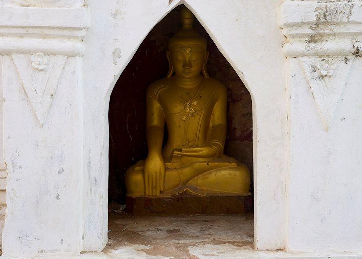 One of the Buddhas at the Shwe-zi-gon Pagoda, Nyaung-U, Myanmar