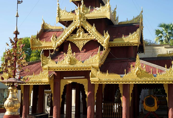 The Shwe-zi-gon Pagoda, Nyaung-U, Myanmar