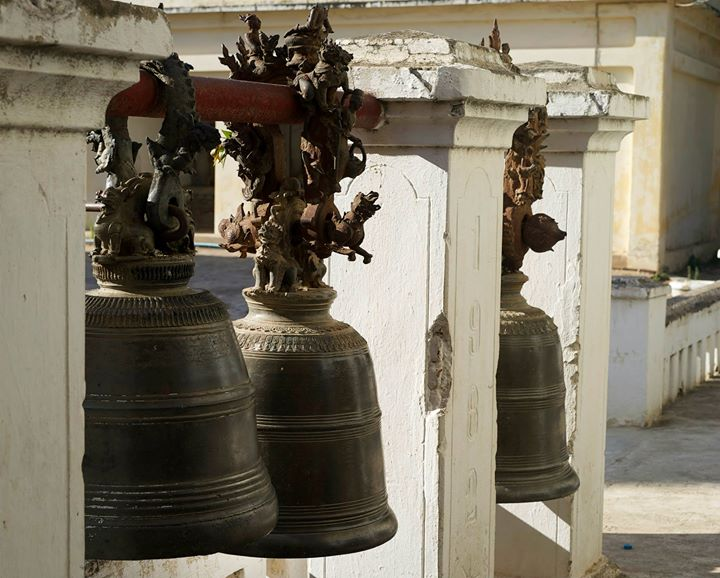 Bells at the Shwe-zi-gon Pagoda, Nyaung-U, Bago Region, Myanmar