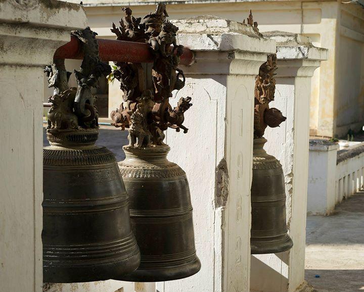Bells at the Shwe-zi-gon Pagoda, Nyaung-U, Bago Region, Myanmar