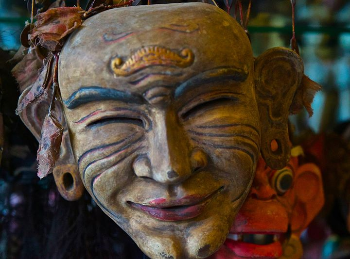Mask of Jero Luh (wife) at The Tama Gallery, Ubud, Bali