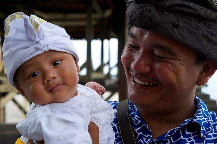 Celebration for this three month old Balinese baby