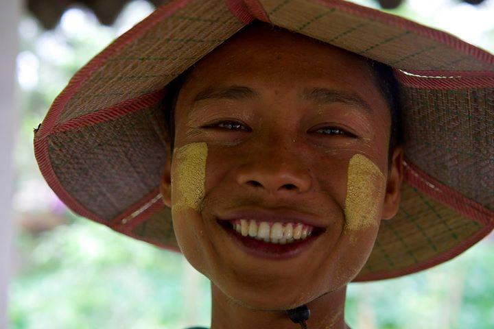 Burmese vendor in Bago, Myanmar