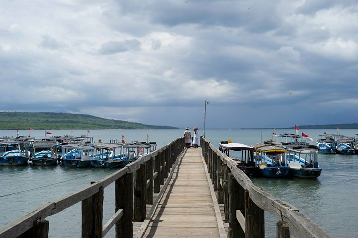 The dock of Labuhan Lalang, Bali, Indonesia