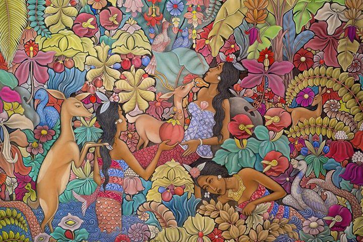 Painting by artist Jati I Ketut