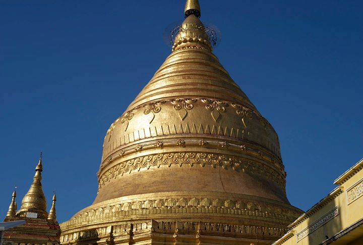 The Shwe-zi-gon Pagoda, Nyaung-U, Bago Region, Myanmar (Burma)