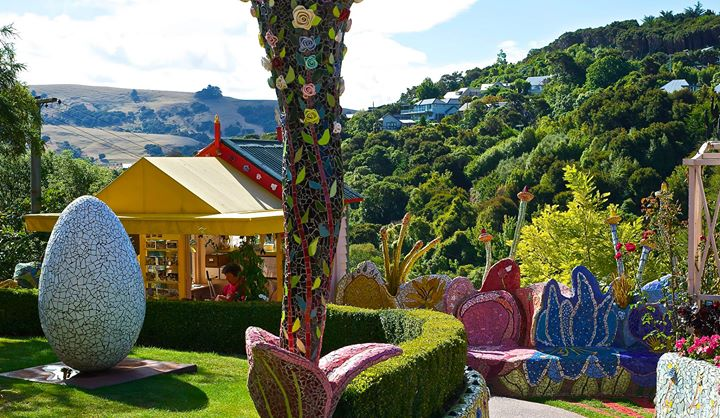 The Giants' House of Josie Martin. Sculpture Mosaic Garden & Art Gallery, Akaroa, New Zealand