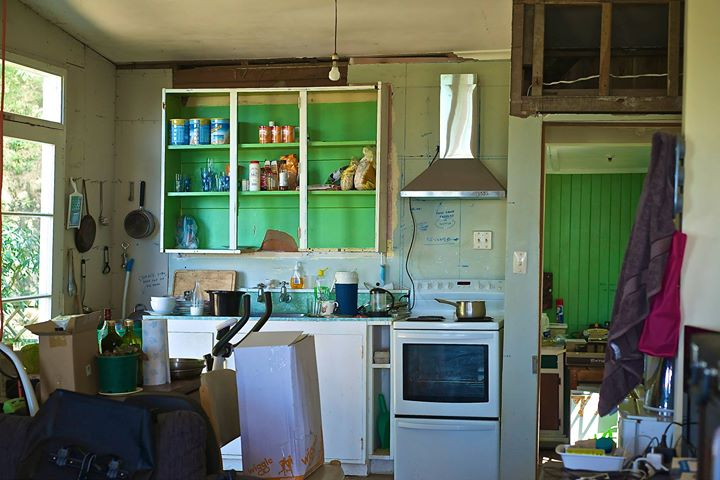 Stan Lusby's kitchen, Moeraki, South Island, New Zealand