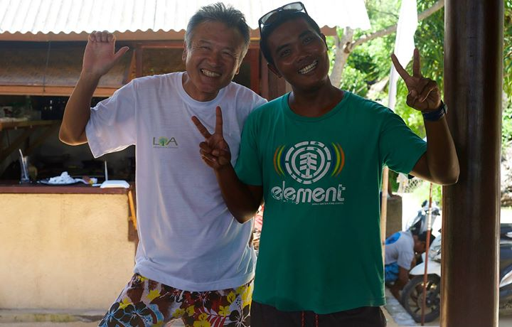 Jun Komuro and Adis Adis at LOA Lembongan Ocean Adventure, Paradise Beach, Nusa Lembongan, Indonesia