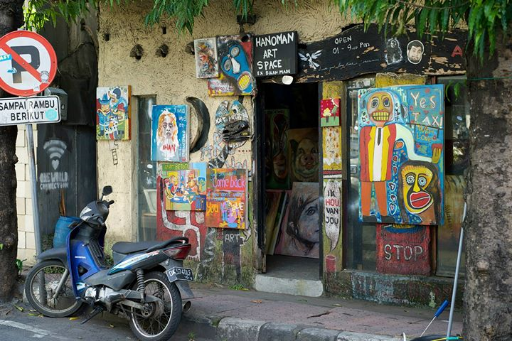 Studio and Art Gallery along JL Hanoman Road in Ubud, Bali