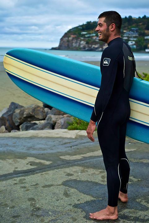 A French surfer at Sunmer, NZ