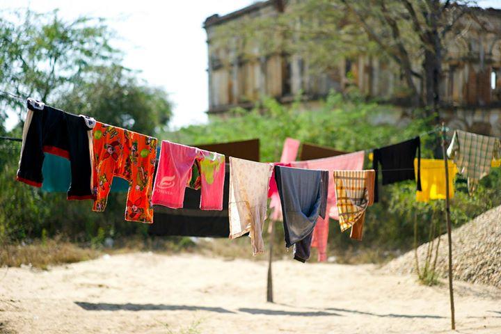 A way to dry laundry in Old Bagan, Bagan Region, Myanmar