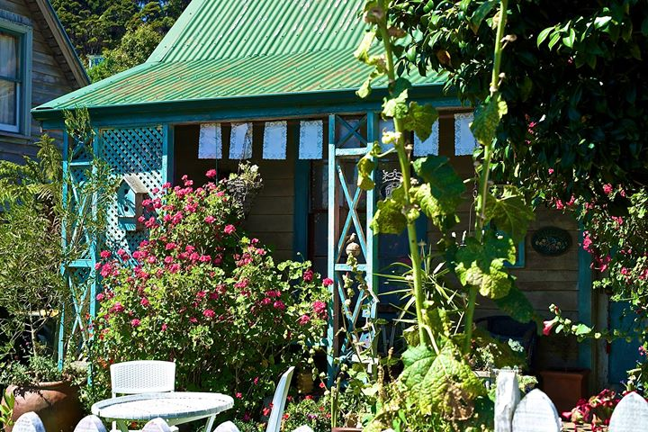 A cottage, Akaroa, South Island, New Zealand