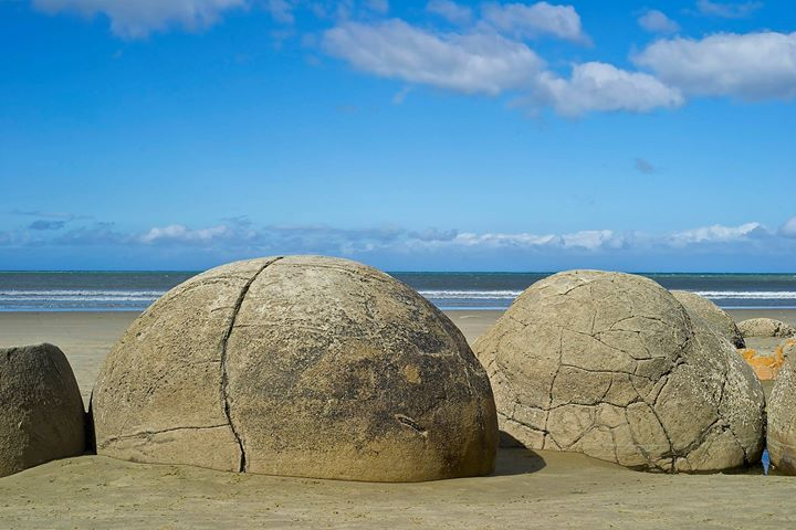 Boulders at Moeraki Beach, South Island