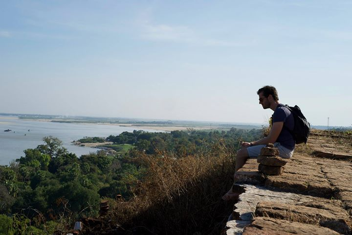 View of the Ayeyarwady (Irrawaddy) from the top of the Pahtodawgyi Stupa