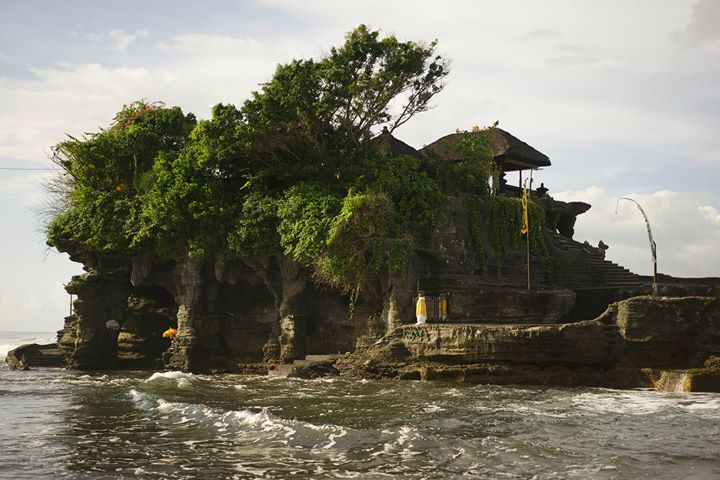 The Pura Tanah Lot or 'Temple of the Land in the Sea'