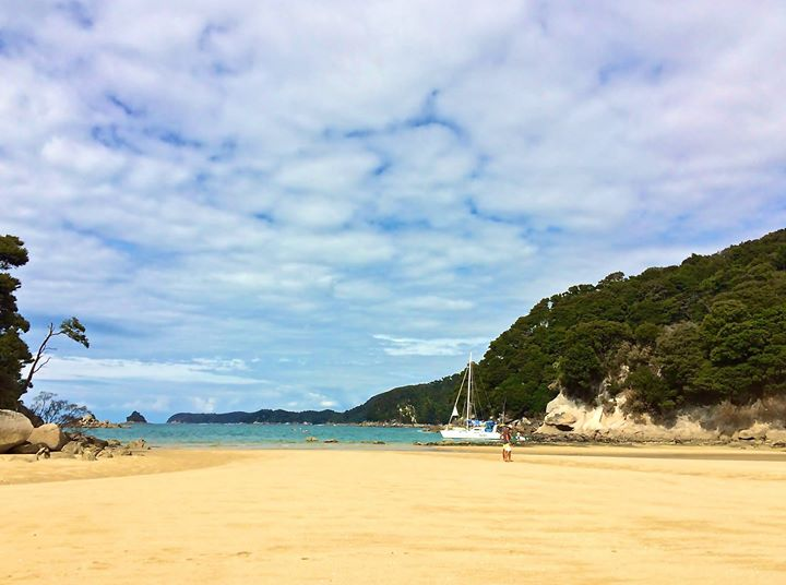 Kayaking at The Abel Tasman National Park in crystal clear waters and golden sand beaches